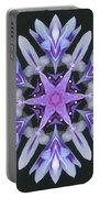 Purple And White Frosted Queen Mandala Portable Battery Charger