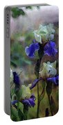 Purple And White Irises 6647 Dp_2 Portable Battery Charger
