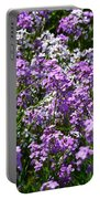 Purple And White Portable Battery Charger