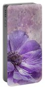 Purple Anemone Art Portable Battery Charger