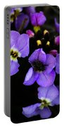 Purple Arctic Wild Flowers Portable Battery Charger