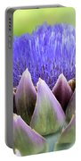 Purple Artichoke Flower  Portable Battery Charger