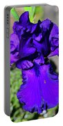 Purple Bearded Iris By Chris White Portable Battery Charger
