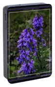 Purple Bell Flowers, Framed Portable Battery Charger