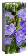 Purple Bell Flowers Portable Battery Charger