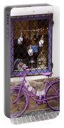 Purple Bicycle Portable Battery Charger