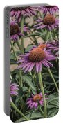Purple Blooms Portable Battery Charger