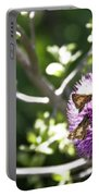 Purple Blossom Portable Battery Charger