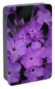 Purple Blossoms Portable Battery Charger