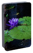Purple Blue  Lily Portable Battery Charger