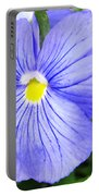 Purple Blue Pansey Portable Battery Charger