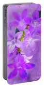 Purple Bluebells Closeup Portable Battery Charger