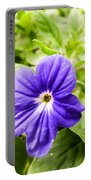 Purple Browallia Flower Portable Battery Charger