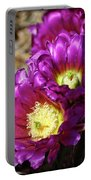 Purple Cacti Flowers Portable Battery Charger
