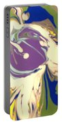 Purple Calla Lilly Portable Battery Charger
