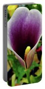Purple - Calla Lily - Bloom Portable Battery Charger
