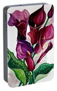 Purple Callas Portable Battery Charger