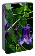 Purple Clamatis Bells Portable Battery Charger
