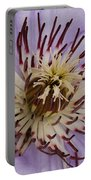 Purple Clematis Portable Battery Charger