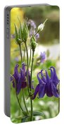 Purple Columbines Portable Battery Charger