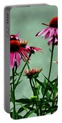 Purple Coneflower Bouquet Portable Battery Charger