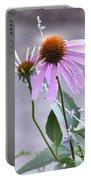 Purple Cornflowers Portable Battery Charger