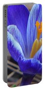 Purple Crocus Portable Battery Charger