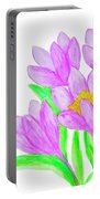 Purple Crocuses, Painting Portable Battery Charger