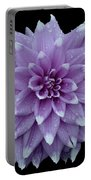 Purple Dahlia Cutout Portable Battery Charger