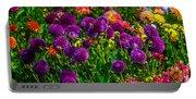 Purple Dahlias Portable Battery Charger