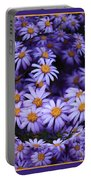 Purple Daisy Abstract Portable Battery Charger