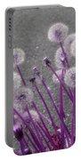 Purple Dandelions Portable Battery Charger