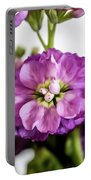 Purple Delphinium Portable Battery Charger