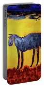 Purple Desert Donkey Portable Battery Charger