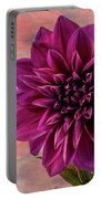 Purple Dhalia Portable Battery Charger
