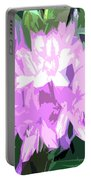 Purple Fades To Lilac Portable Battery Charger