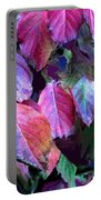 Purple Fall Leaves Portable Battery Charger