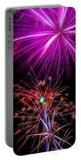 Purple Fireworks Portable Battery Charger