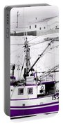 Purple Fishing Boat Portable Battery Charger