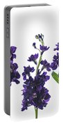 Purple Floral 1 Portable Battery Charger