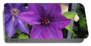 Purple Floral Portable Battery Charger