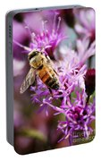 Purple Flower Bee Portable Battery Charger