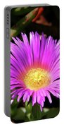Purple Flower On California Coast Portable Battery Charger