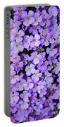 Purple Flowers - Rockcress Portable Battery Charger
