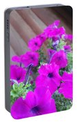 Purple Flowers 1 Portable Battery Charger