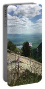 Purple Flowers At Table Rock Overlook Portable Battery Charger by Kelly Hazel