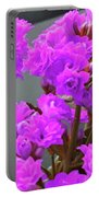 Purple Flowers Portable Battery Charger