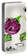 Purple  Flowers Grow Portable Battery Charger