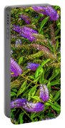 Purple Flowers Of Chiloe Portable Battery Charger