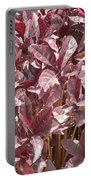 Purple Foliage Portable Battery Charger
